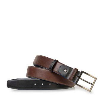 Belt calf leather black
