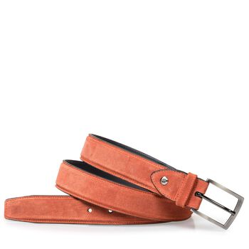 Belt suede leather orange