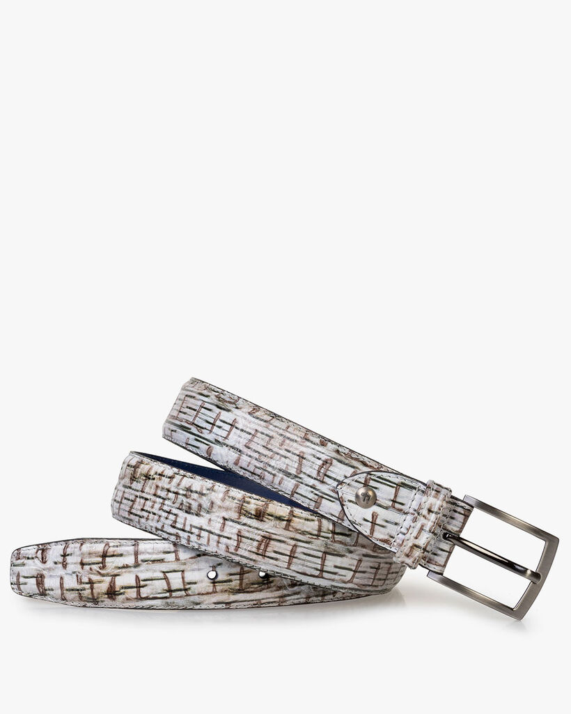 Belt with print off-white
