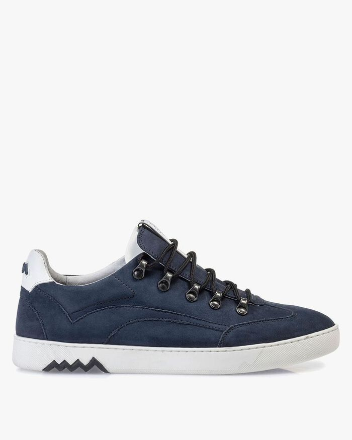 Hiking sneaker nubuck leather blue