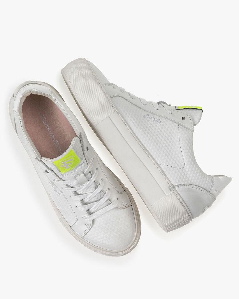 Sneaker mit Print Leder weiß