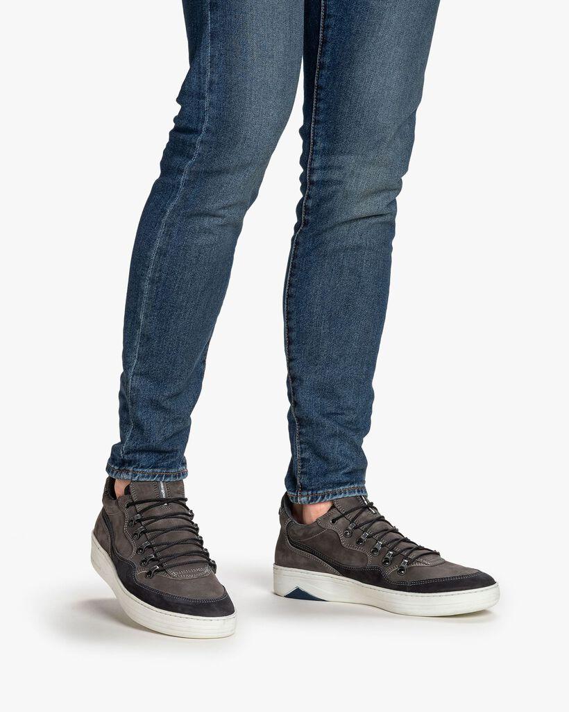 Sneaker Nubukleder dunkelgrau