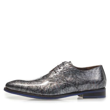 Lace shoe with print