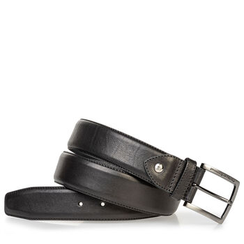 Calf leather belt black