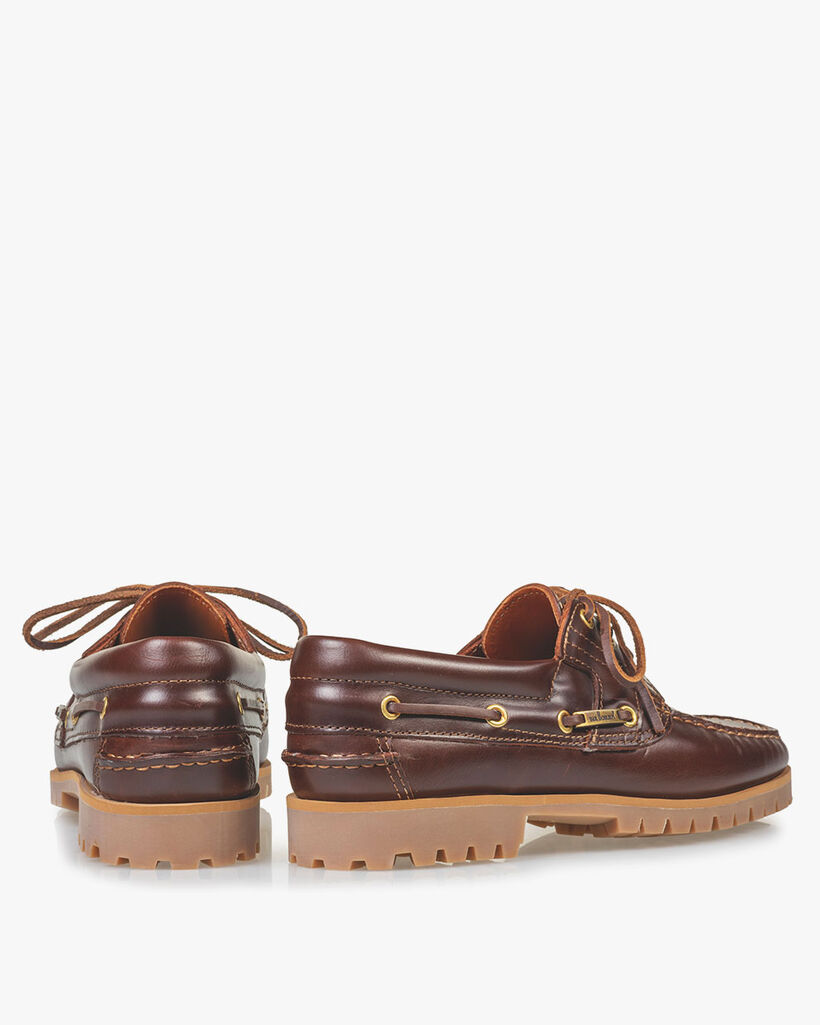 Bootsschuh Leder rotbraun