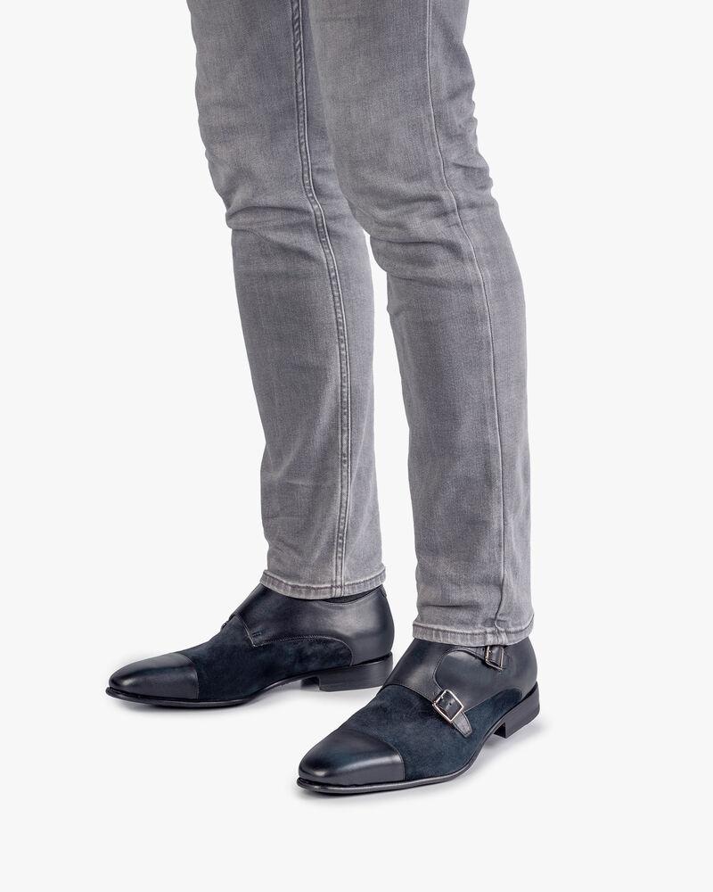 Doppel-Schnallenschuh dunkelblau