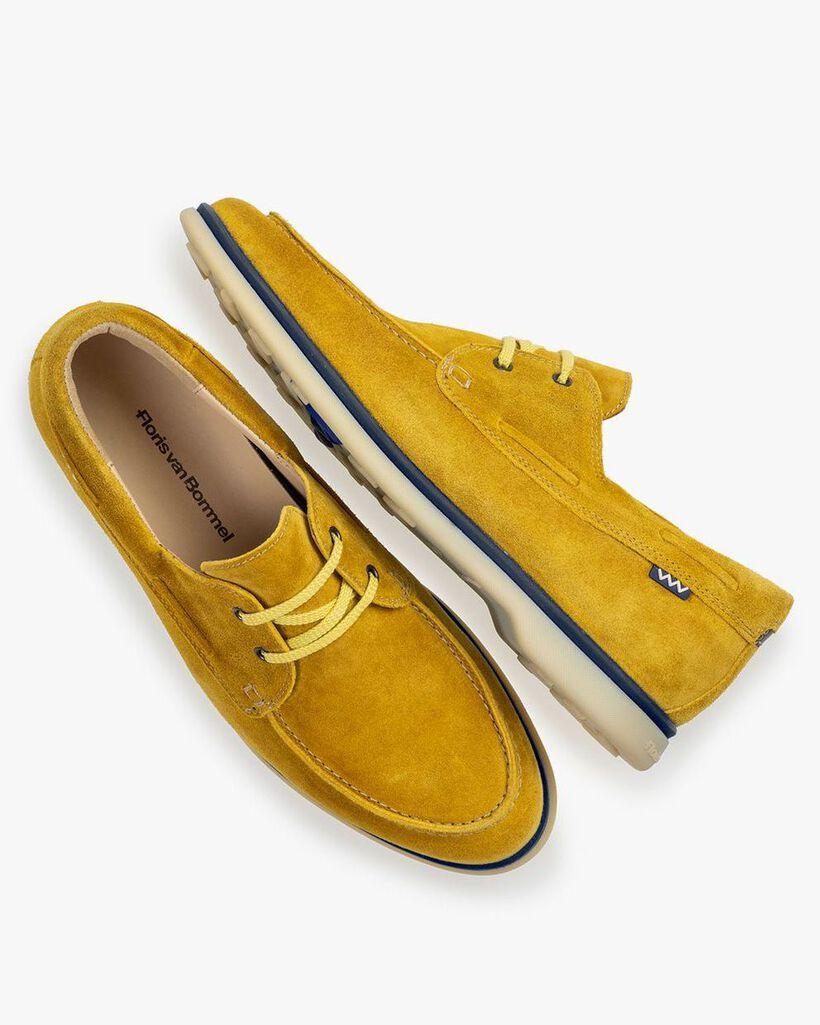 Bootsschuh Wildleder gelb