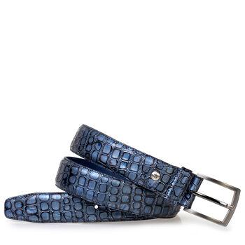 Belt metallic blue