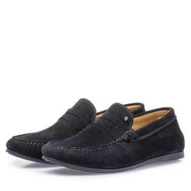 Suede leather loafer Van Bommel
