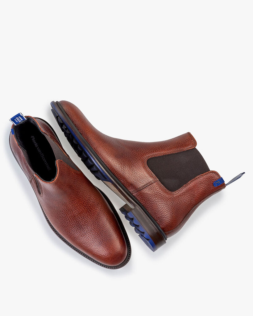 Chelsea boot printed leather cognac