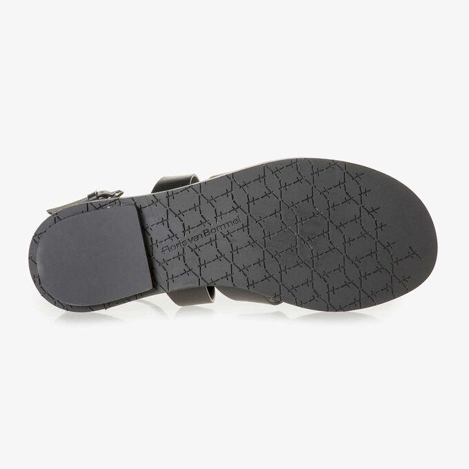 Schwarze Leder-Sandale
