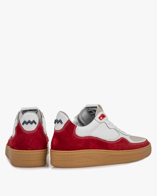 Sneaker Wildleder rot