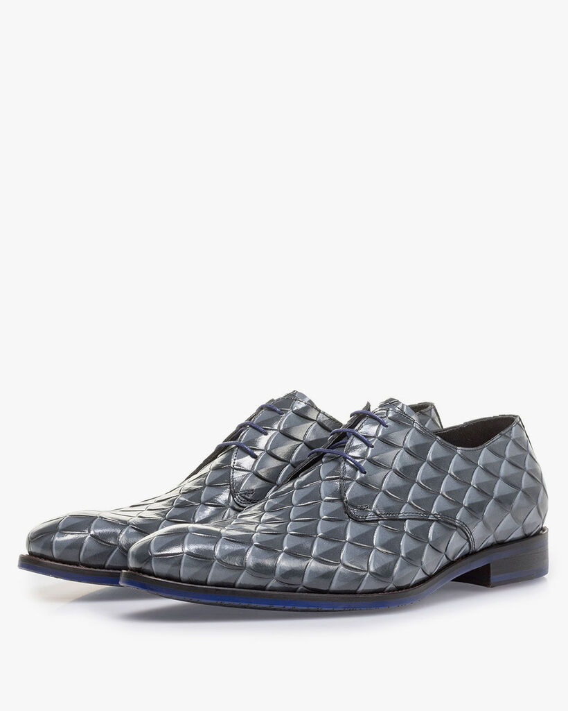 Premium grey lace shoe with print