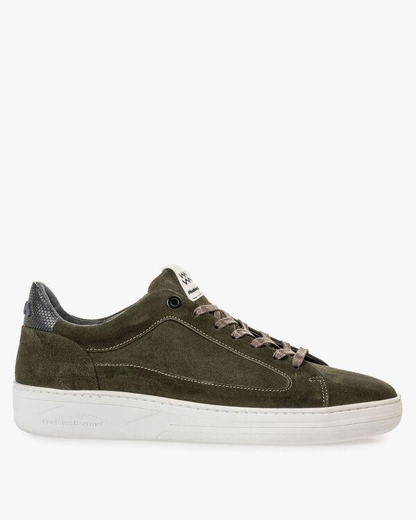 Wildleder-Sneaker grün