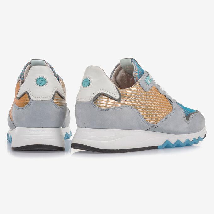 Light blue nubuck leather sneaker