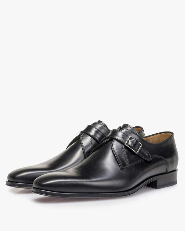 Monk strap calf leather black
