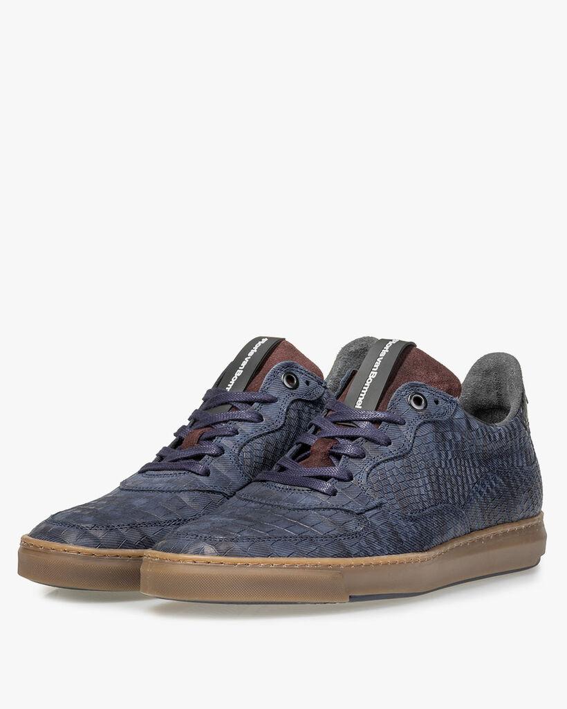 Sneaker Reptilienprint blau