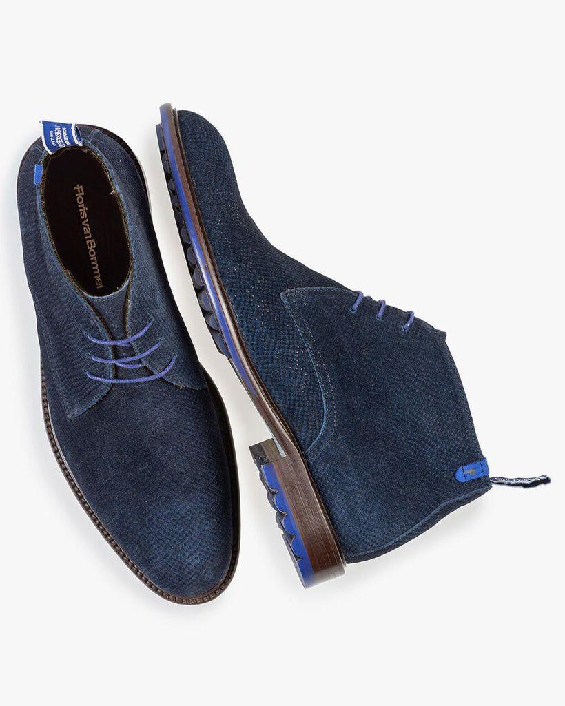 Stiefel dunkelblau mit Print