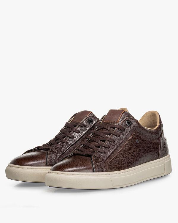 Sneaker Leder-Print braun