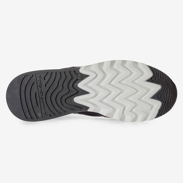 Grau-schwarzer Wildleder-Sneaker