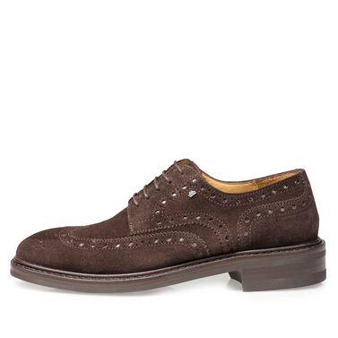 Leather brogue lace shoe