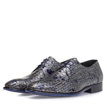 Lace shoe metallic