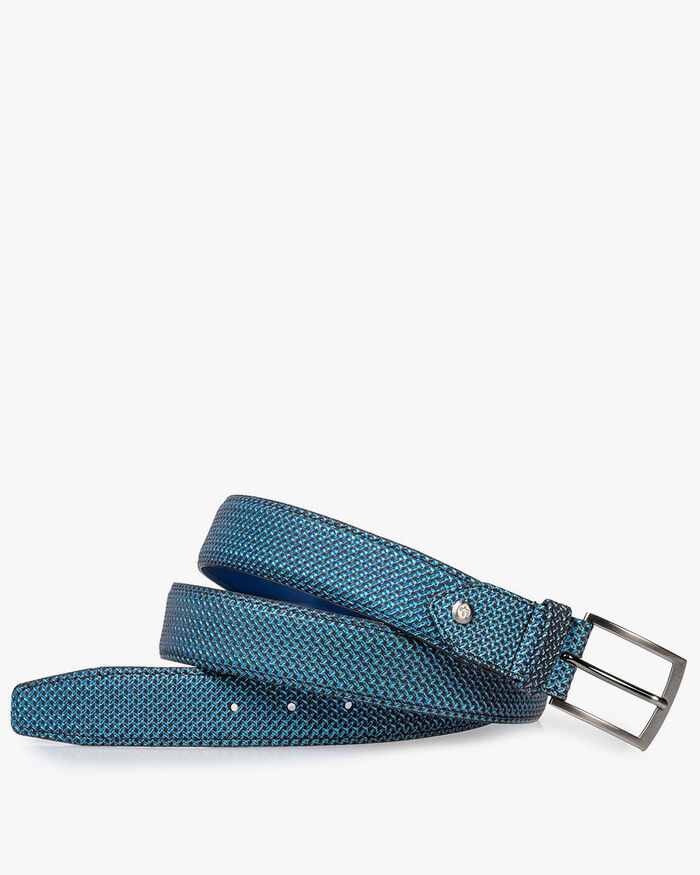 Belt blue metallic