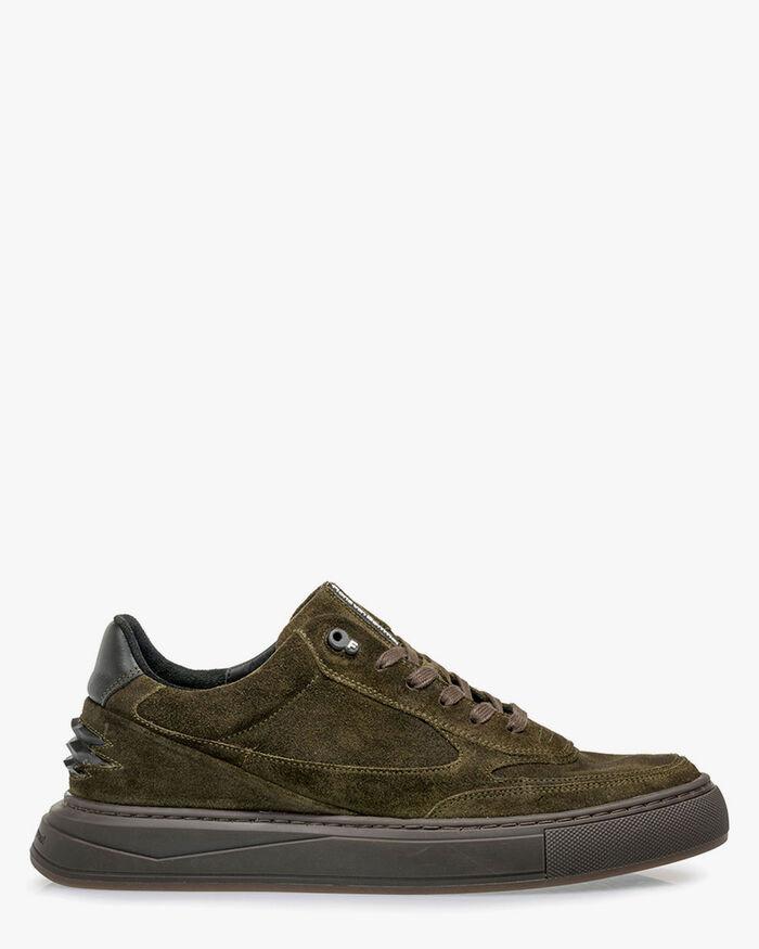 Sneaker suede dark green