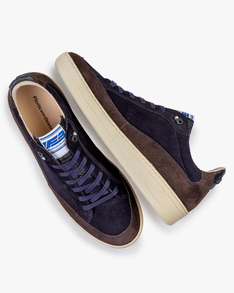 Sneaker Wildleder blau