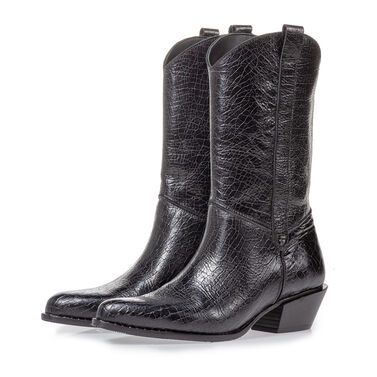 Leather western boot women