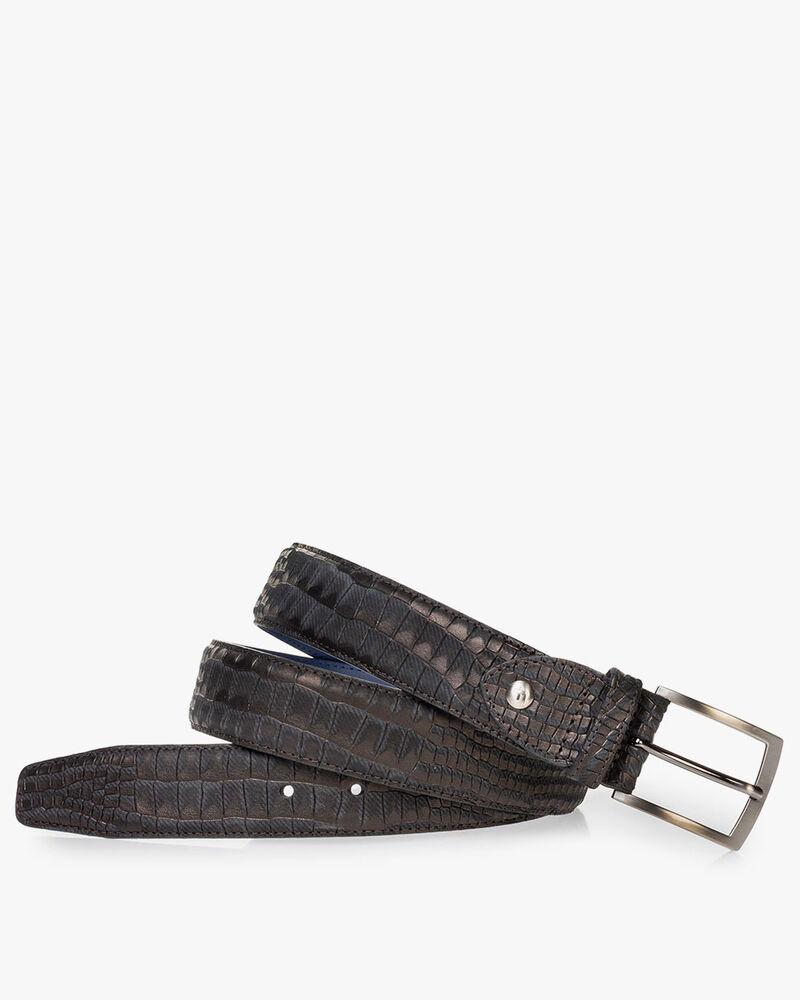 Belt nubuck leather black