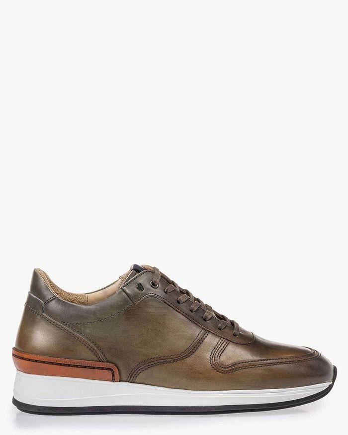 Sneaker Kalbsleder grün