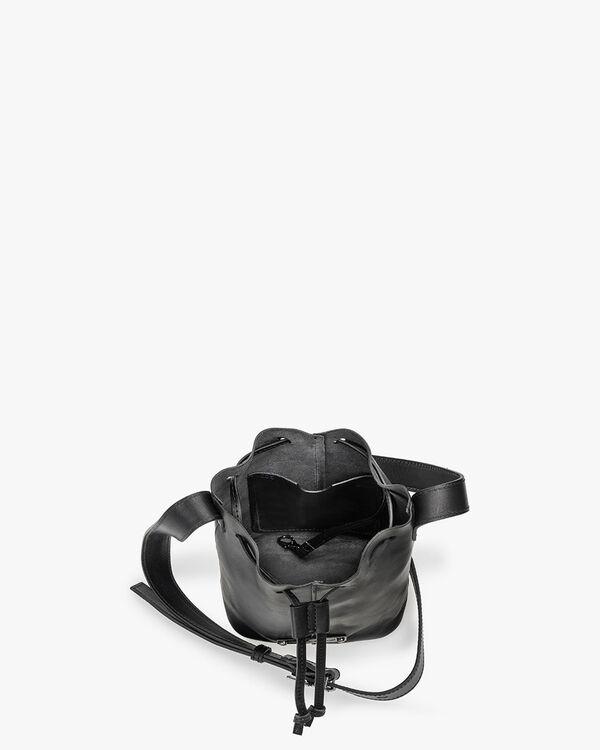 Bucket bag calf leather black