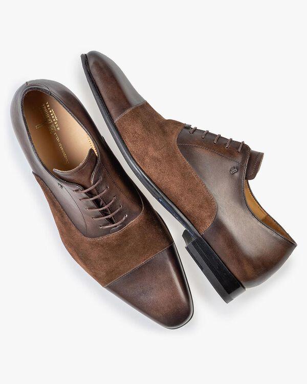 Lace shoe calf lather dark brown