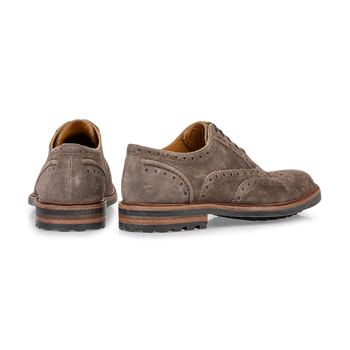 Lace shoe suede taupe