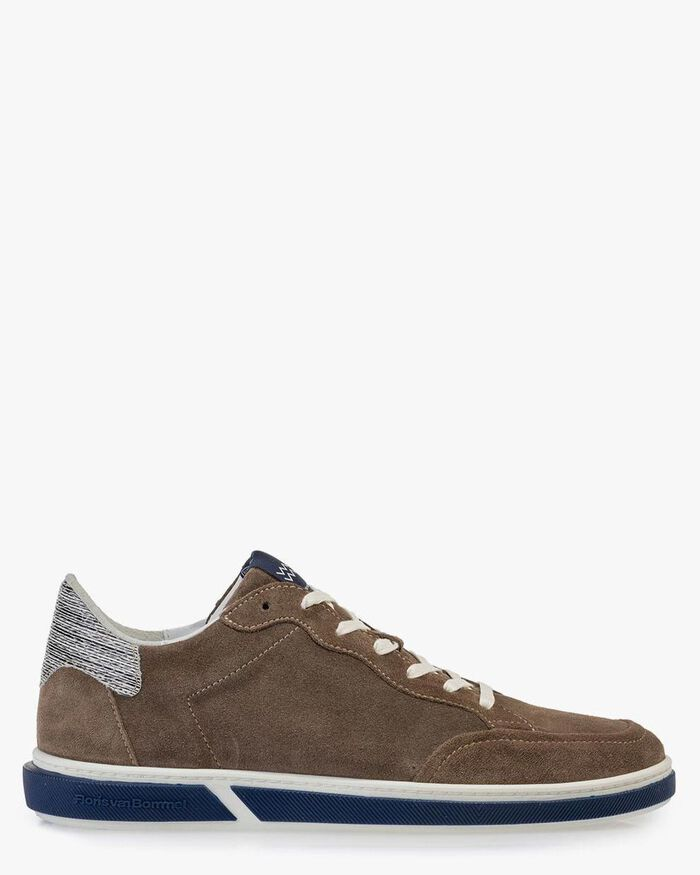 Sneaker suede leather taupe