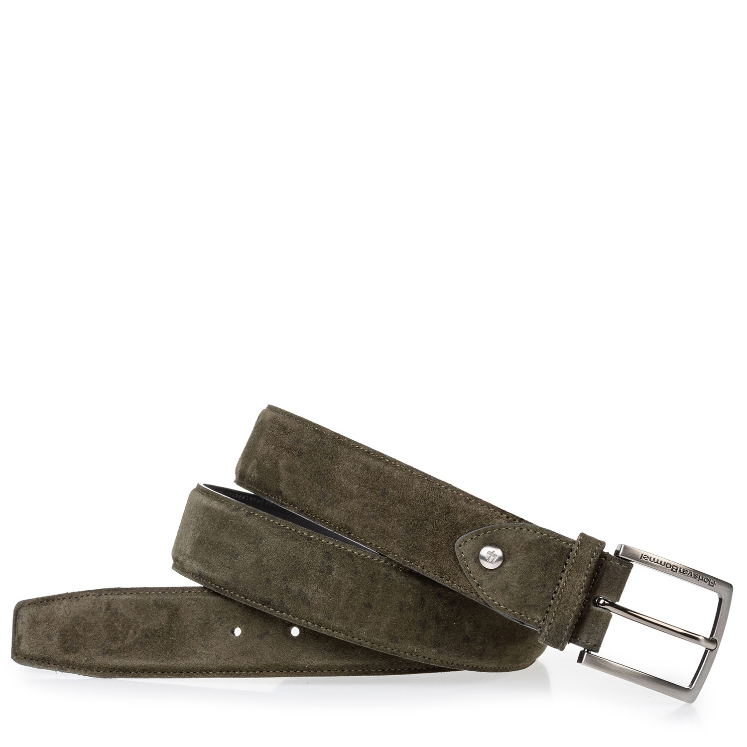 75202/95 - Suede leather belt green black