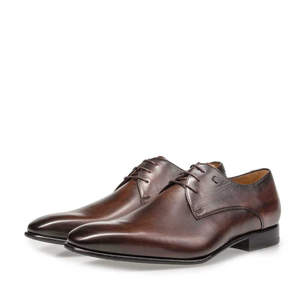 18295/07 - Dark brown leather lace shoe