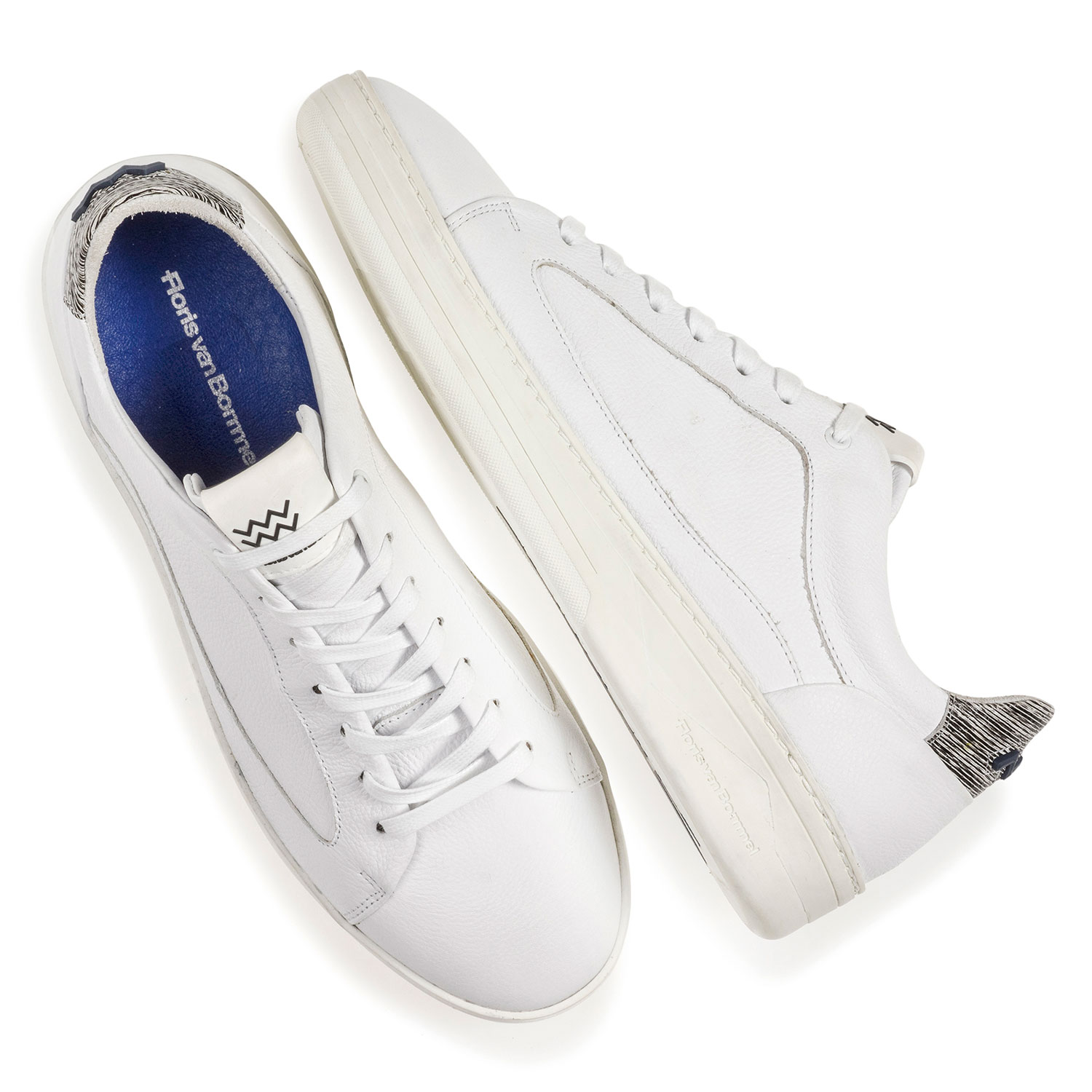 13265/00 - White calf leather sneaker