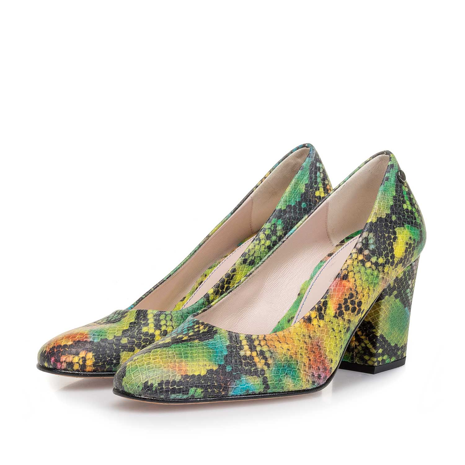 85520/00 - Green snake print leather pumps