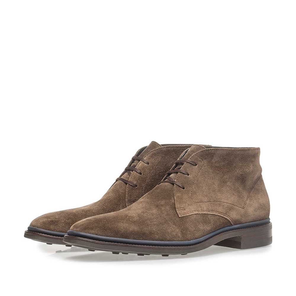 10667/07 - Dark taupe-coloured suede lace boot