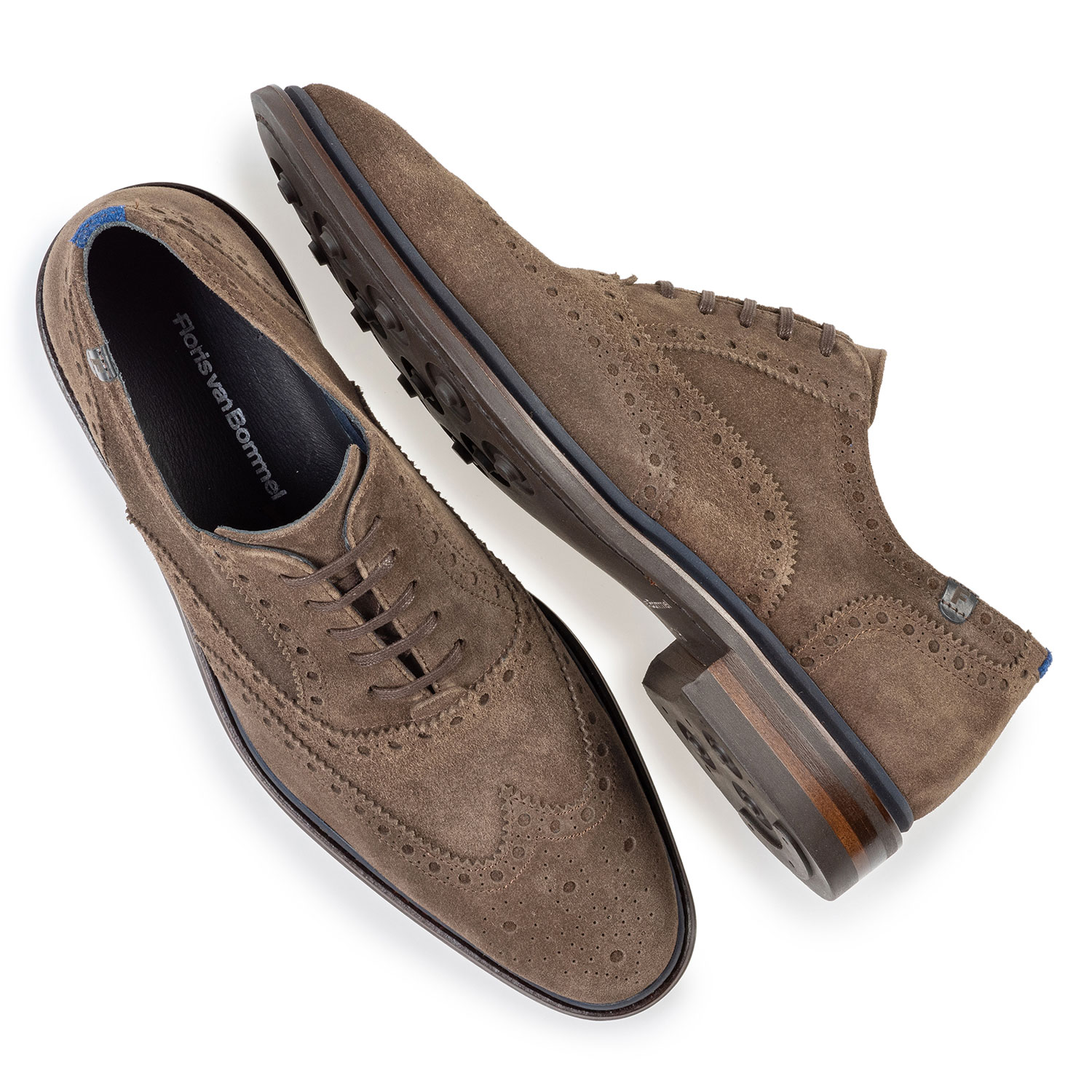 19172/03 - Brogue suede leather dark taupe
