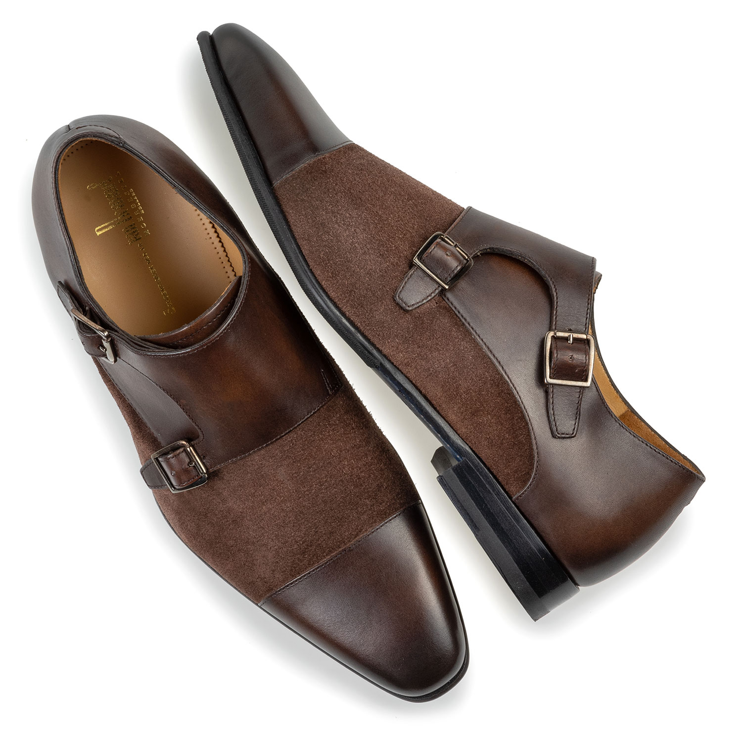12296/00 - Double monk strap dark brown