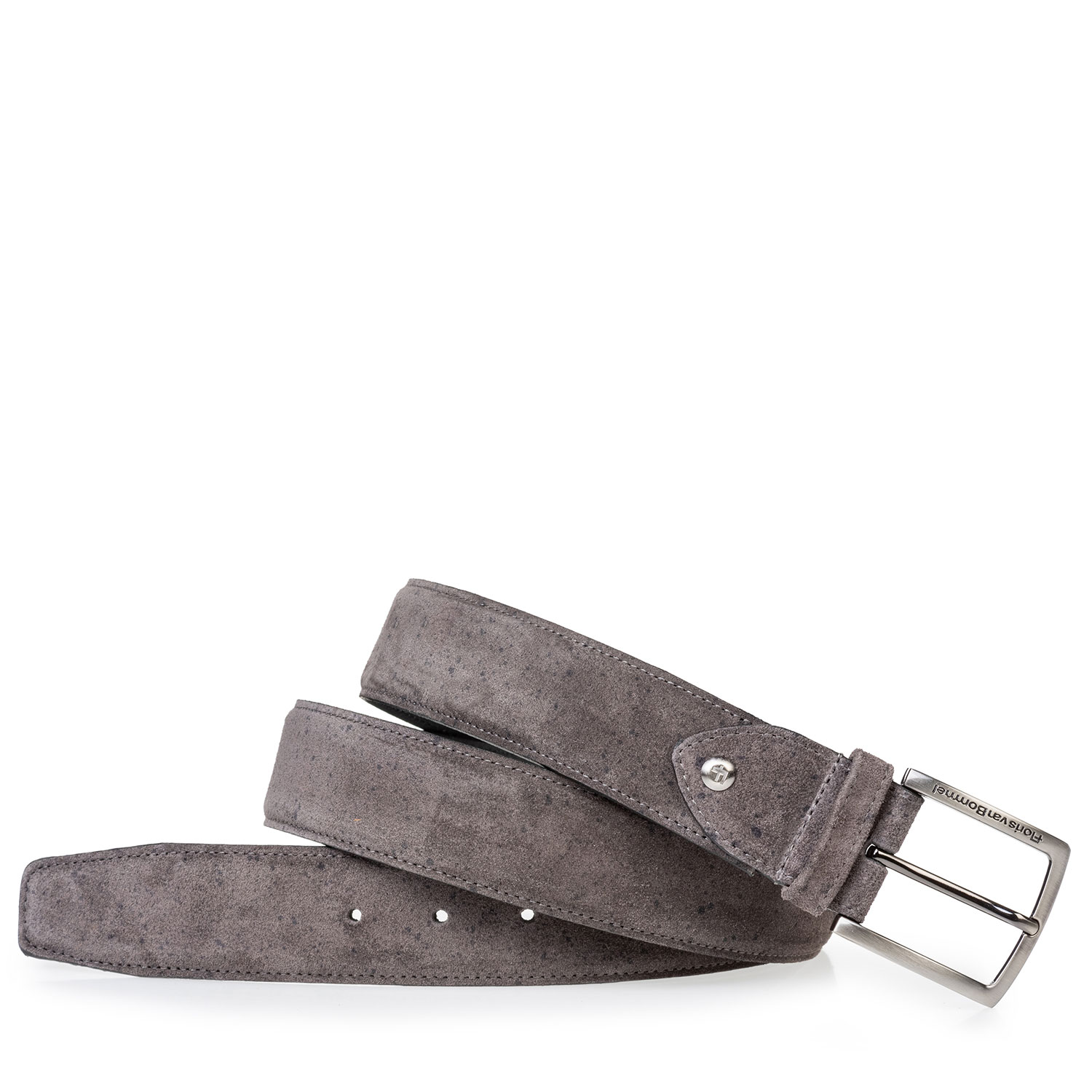 75202/94 - Suede leather belt grey with print