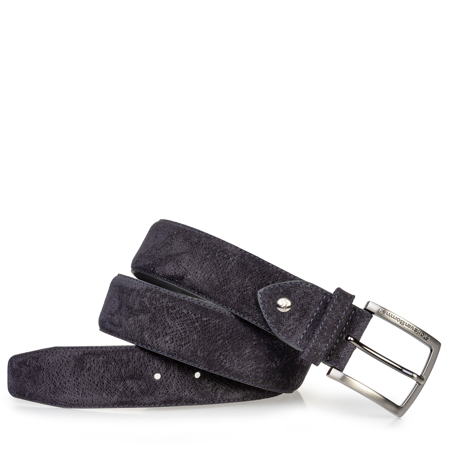 75202/69 - Suede leather belt dark blue
