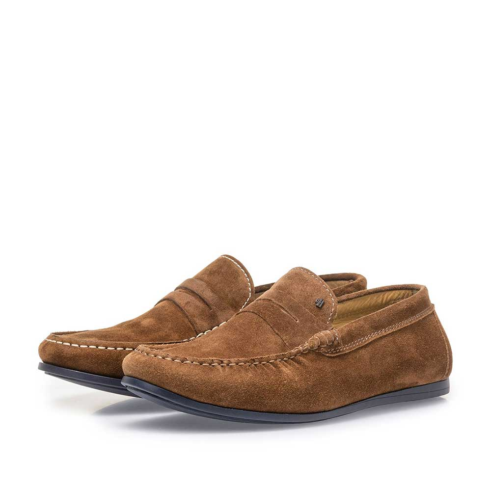 15038/02 - Brown suede leather loafer