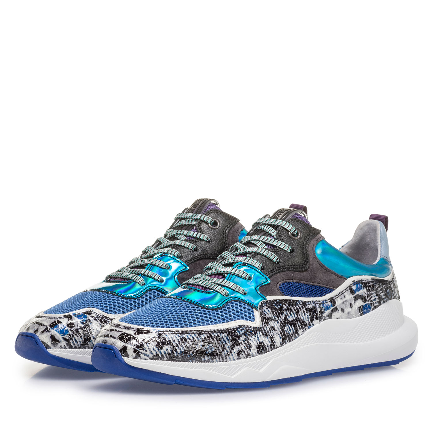 16269/24 - Multi-colour sneaker with grey and blue print