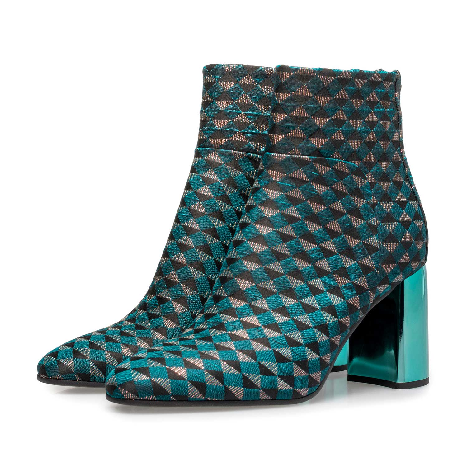 85624/07 - Green ankle boots with graphic print
