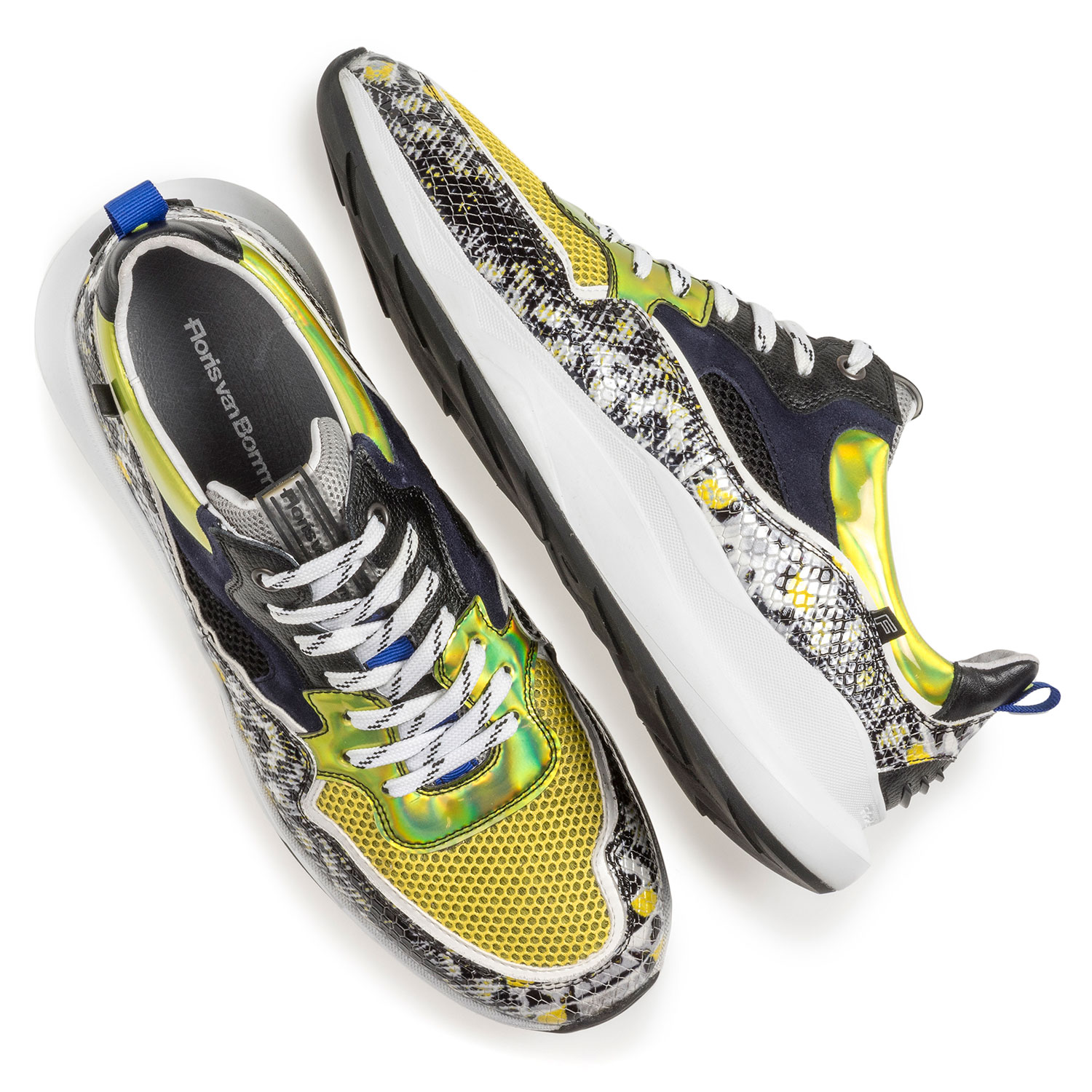 16269/23 - Multi-colour sneaker with grey and yellow print