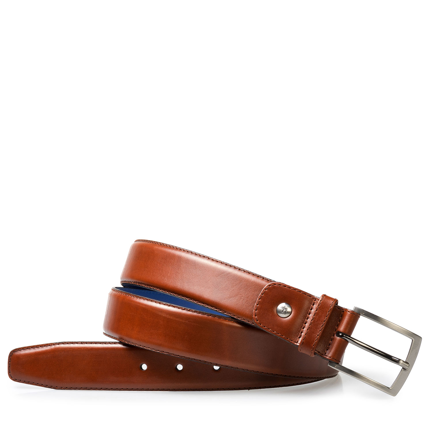75144/07 - Dark cognac calf's leather belt